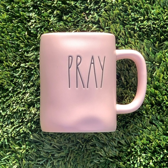 PRAY mug in pastel pink by Rae Dunn NWT